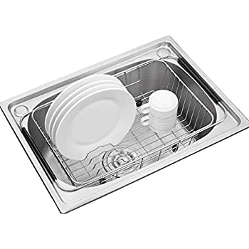 Adjustable Over Sink Dish Drying Rack Stainless Steel Dish Drainer, On  Counter Or In Sink Dish Rack, Deep And Large  Rustproof