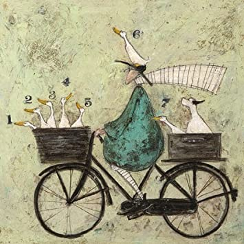 All aboard the ducky express sam toft open greeting card st314 quot all aboard the ducky express quot sam toft open greeting card m4hsunfo