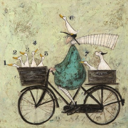 """ All Aboard The Ducky Express "" - Sam Toft Open Greeting Card - ST314 ART PRESS"