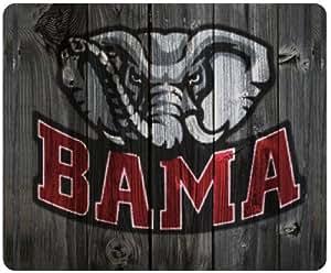 Alabama Crimson Tide Alternate Logo wood background style mousepad, square mousepad Customized by the micase
