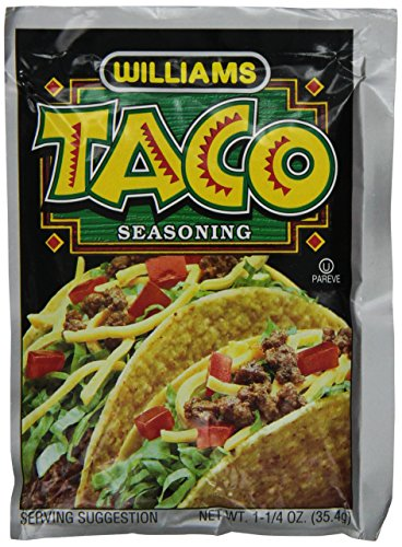 Williams Taco Seasoning Mix, 1.25 Ounce (Pack of 24) by Williams