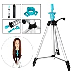 "Mannequin Head Holder Tripod Stand, TopDirect Portable Adjustable 55"" Hairdressing Practice Cosmetology Training Doll Stand Mannequin Manikin Head Wig Stand with Carry Bag"