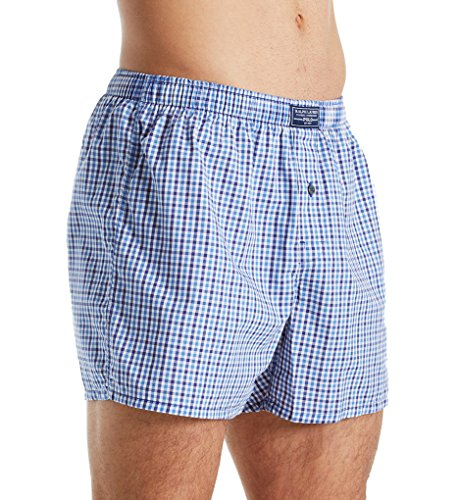 Classic Cotton Boxer Oxford - Polo Ralph Lauren 100% Cotton Classic Plaid Woven Boxer (L104HR) S/Oxford Plaid/Blue