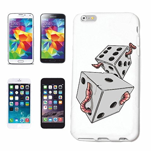 "cas de téléphone iPhone 7S ""LUCK DICE DICE DICE GAME CASINO BIKER SHIRT CARD GAME CUBE GAME GAMBLING"" Hard Case Cover Téléphone Covers Smart Cover pour Apple iPhone en blanc"
