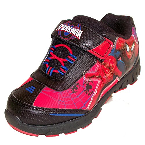 Spiderman Shoes For Kids (Marvel Ultimate Spiderman Boys Light Up Athletic Shoe (Toddler/ Little Kid) (11 Little Kid M))