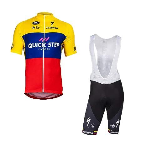 0064ae33bb40 Wulibike Completo Ciclismo Uomo Maglietta Ciclismo Maniche Corte+Salopette  Ciclismo Abbigliamento Ciclismo Squadra Professionale per