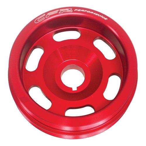 Civic Pulley Crankshaft Honda - HONDA 88-91 Civic CRX 1.5L 1.6L SOHC Crank Pulley - RED