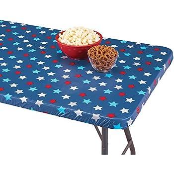 Amazon Com Toptablecloth Picnic Table Cover Blue