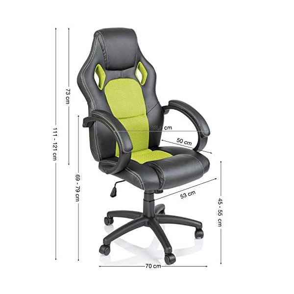 TRESKO® Sedia da ufficio Poltrona ufficio Versione Racing ...