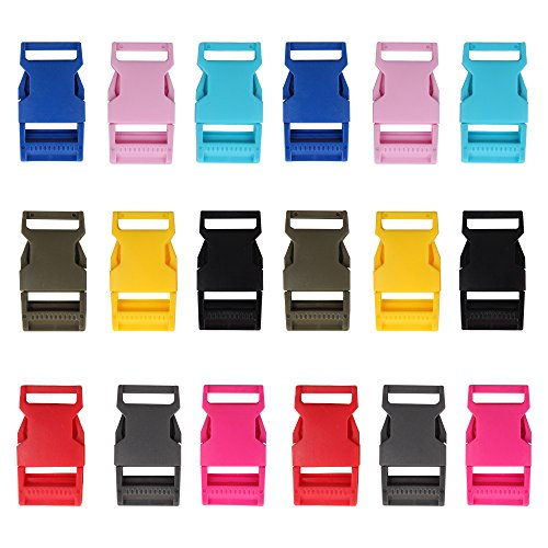 YGDZ 18PCS 1 inch Adjustable Plastic Buckle Contoured Side Quick Release