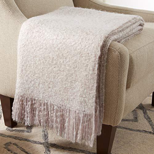 (Stone & Beam Oversized Stripe Brushed Weave Throw Blanket, 60