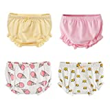 Beide Baby Girls Cotton Ruffle Bowknot Shorts 4-Pack (1-2T, Color 3)
