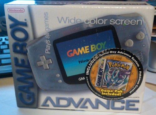 Game Boy Advance w/ Pokemon Crystal Game -