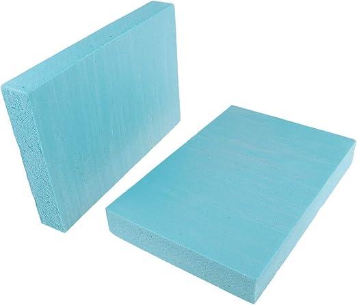 MagiDeal 2pcs Plaque de Mousse de Haute Densit/é PVC Multifonctionnel Bricolage Table de Sable Mod/èle 29.5x10x2 cm Bleu