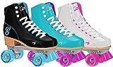 Roller Derby  Rewind Unisex Roller Skates (Size 06) - Black/Teal