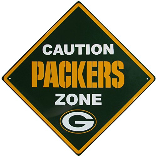 NFL Bay Packers Caution Wall Sign Plaque, 14