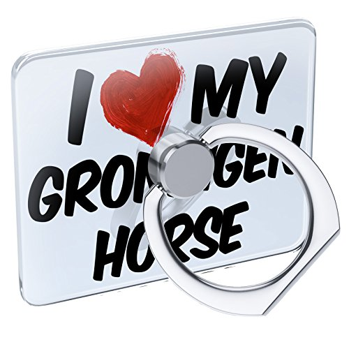 (Cell Phone Ring Holder I Love My Groningen Horse Collapsible Grip & Stand)