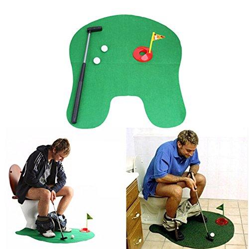 Toilet Bathroom Mini Golf Potty Putter Game Toy - 8