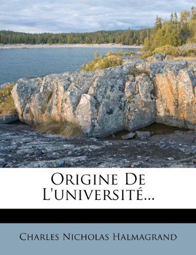 Origine de L'Universite.