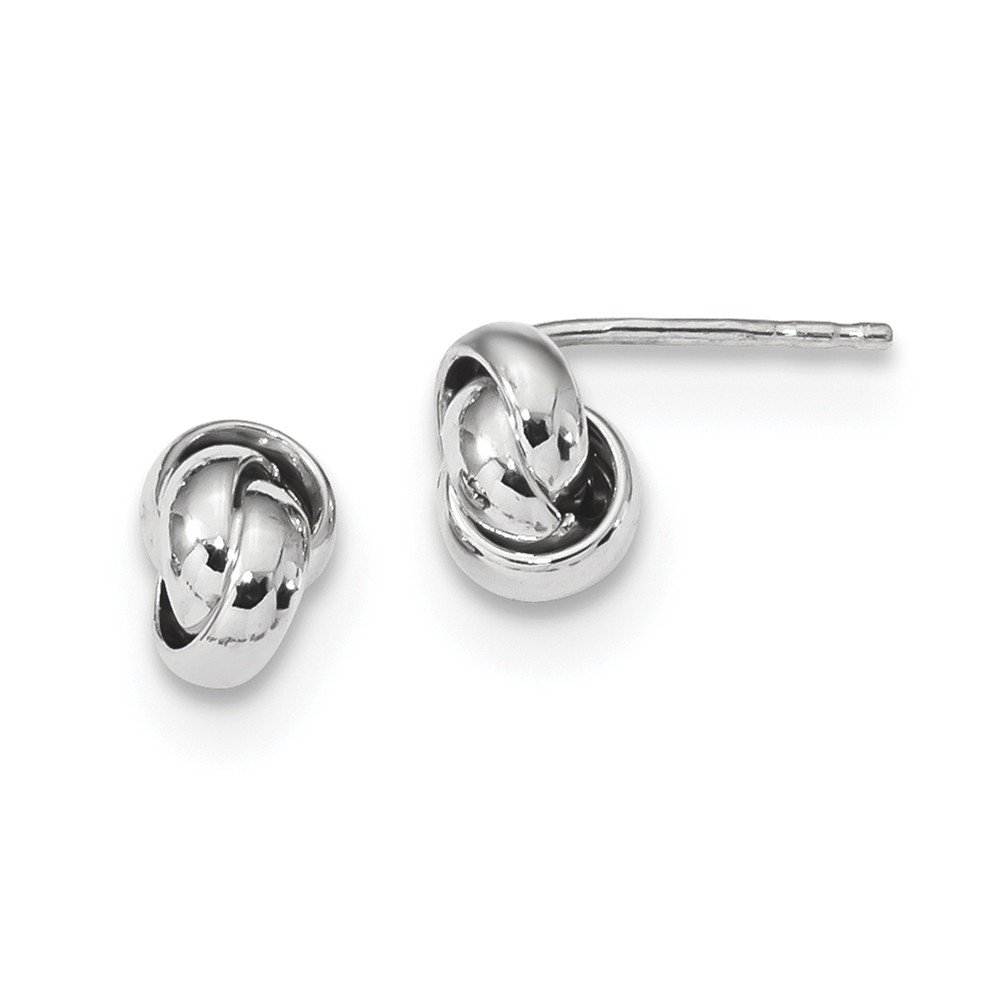 Best Birthday Gift 14kw Polished Love Knot Post Earrings by Jewelry Brothers Earrings (Image #1)