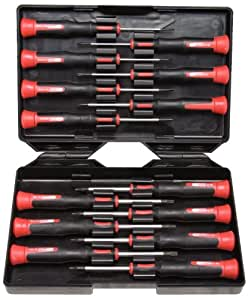 KS Tools 500.7170 ESD - Juego de destornilladores para mecánica de precisión (14 piezas, PH, de punta plana y T)