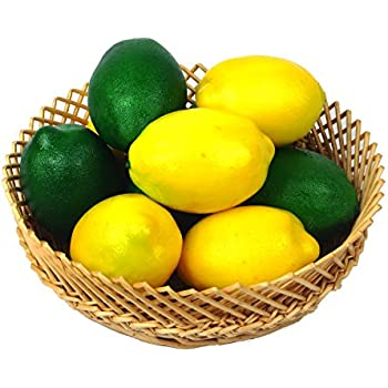 Buytra 10 Pack Artificial Fake Lemons Limes Fruit For Vase Filler