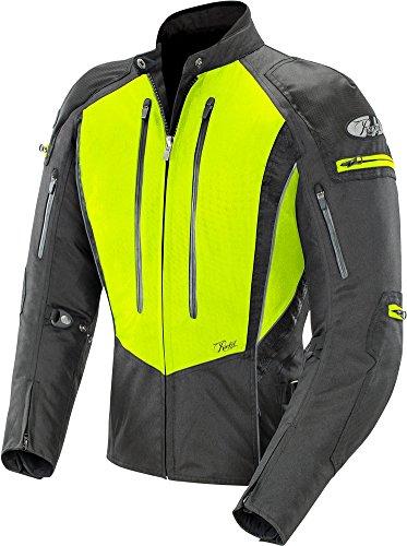 Joe Rocket Women's Atomic 5.0 Textile Jacket (Hi-Viz Yellow/Black, Medium) (Womens Touring Jacket)
