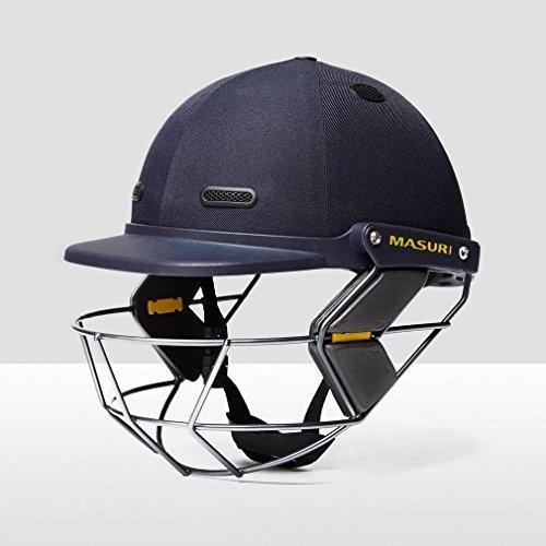 Masuri Vision Series TEST JUNIOR Cricket Helmet Steel Grille (Navy,Youths) by Masuri by Masuri