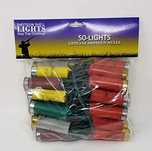 More Than Christmas 50-Shotgun Shell Light Set-Multi (has Plugs on Both Ends Light - Lights Shell Shotgun Christmas