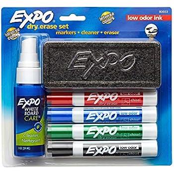 Amazon.com: EXPO Dry Erase Marker Starter Set, Chisel Tip