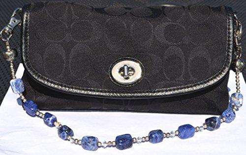 Handmade Handbag Handle, Blue Sodilite, Replacement Purse Handles, Bag Handles, Removable Gemstone Necklace 18 1/2