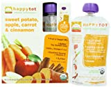 Happy Tot Super Foods, Sweet Potato, Apple, Carrot and Cinnamon (8 pack)