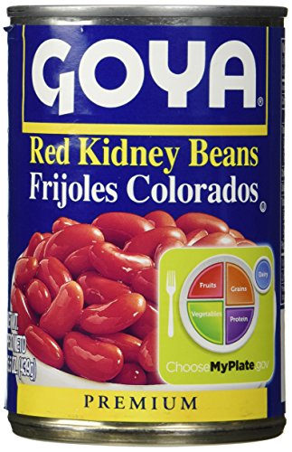 - Goya Red Kidney Beans Habichuelas Coloradas Premium- 15.5 Oz Cans (6 Pack)