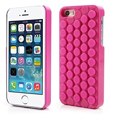 newest 32beb c90a7 VOYOMO B012ZVDBSE 3D Bubble Wrap Design (Can Pop) Soft PC Phone Case Cover  For iPhone (For iPhone 5 5S, Hot Pink)
