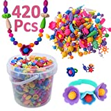 DUUTY Pop Snap Beads Set Arty Toy Bead - Creativity DIY Jewelry Kit for Making Necklace Bracelet Rings Arts Crafts Toys Christmas Birthday Gifts for Kids Girls 535 Pcs