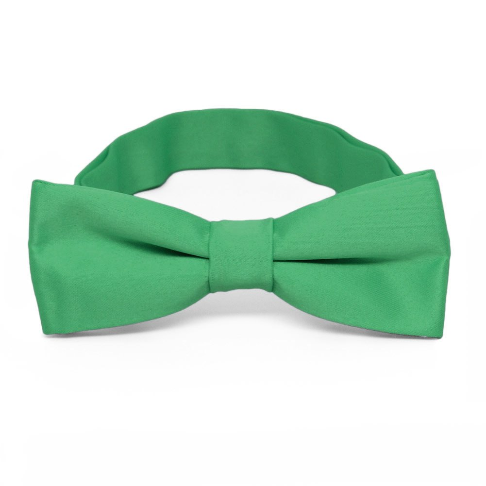 TieMart Boys Emerald Green Bow Tie