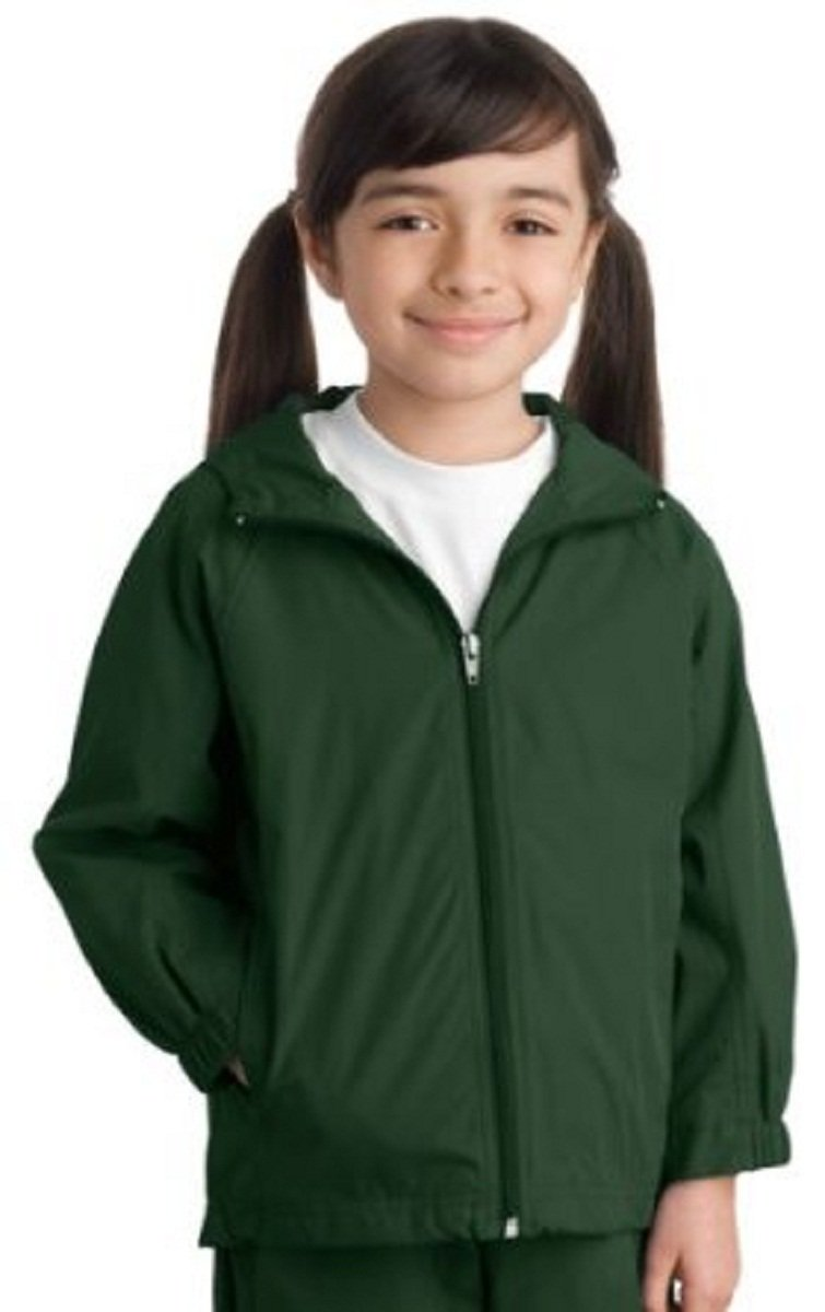 Sport-Tek Youth Stylish Sporty Hooded Raglan Sleeve Jacket, Medium, Forest Green