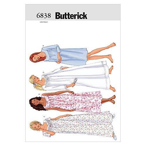 BUTTERICK PATTERNS B6838 Misses'/Misses' Petite Nightgown, Size XSM (XS-S-M)