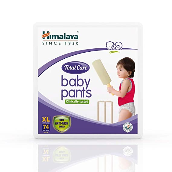Himalaya Total Care Baby Pants Diapers, X Large, 74 Count