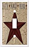 COUNTRY BARN STAR FAITH FAMILY FRIENDS LIGHT SWITCH COVER PLATE OR OUTLET (light single)