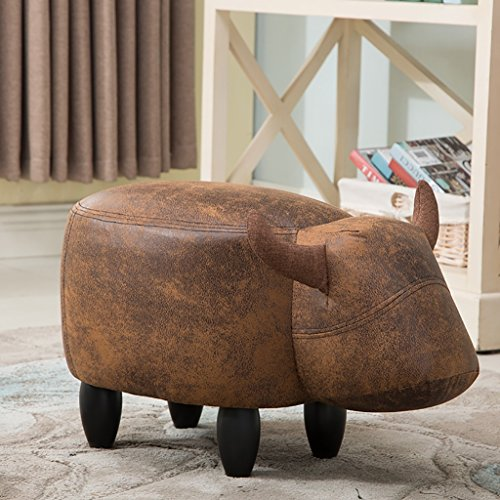 AIDELAI Stool Sofa Ottoman Stool Stool Stool Changing His Shoes Stool Fashion Creative Cow Animal Shoes Stool Stool Stool A Pair Of Shoes (34 66 36cm) Saddle Seat ( Color : E , Size : #2 ) by AIDELAI