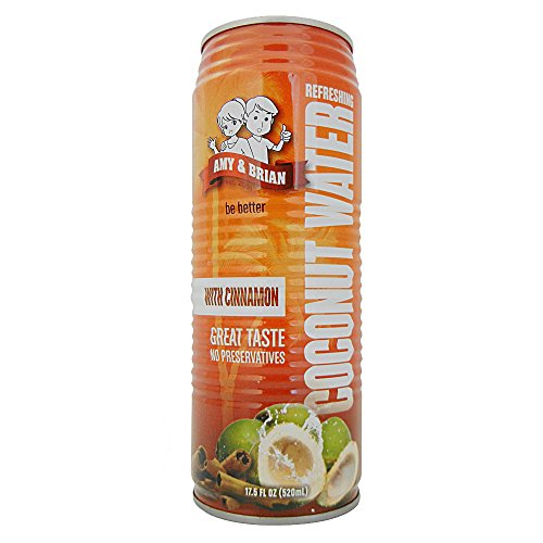 Amy & Brian Coconut Water with Cinnamon, 17.5  Fl. Oz (Pack of 12)