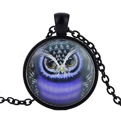 [Mr Rabbit Retro Style Time Gem Creative Owl Shapped Pendant Necklaces] (Soa Baby Costume)