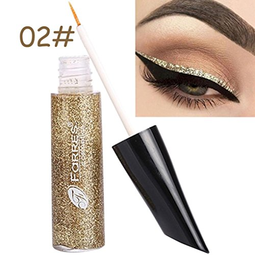 Rich Bronze Series - FaRRES Eyeshadow Liquid Eyeliner,YOYORI Shimmer Charming Loose Sparkly Pearlescent Sparkly Professional Vegan Nudes Warm Natural Bronze Smoky Eye Shadows Palette (Gold)