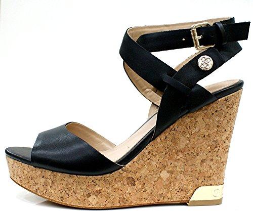 Guess Sandalo Donna Harana Platform Zeppa Cm 11 Pl. Cm 3 Black
