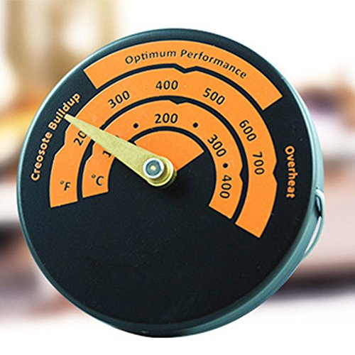 NEW Burner Stove Temperature Gauge Thermometer Flue Pipe Magnetic Oven Alloy