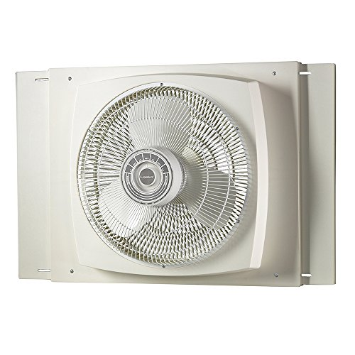 Lasko 2155A 16″ Electrically Reversible Window Fan - Features Storm Guard and 3 Intake and 3 Exhaust ()