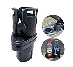 20 oz Bottles Drink Coffee up to 5.9 Inch UMISKY Car Cup Holder Expander Adapter 2 in 1 Multifunctional 2 Cup Mount Extender with 360/° Rotating Adjustable Base to Hold Most 17oz