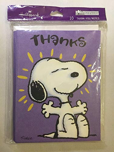 Hallmark Peanuts pkg 10 Thank You Note Cards Snoopy - Snoopy You Thank