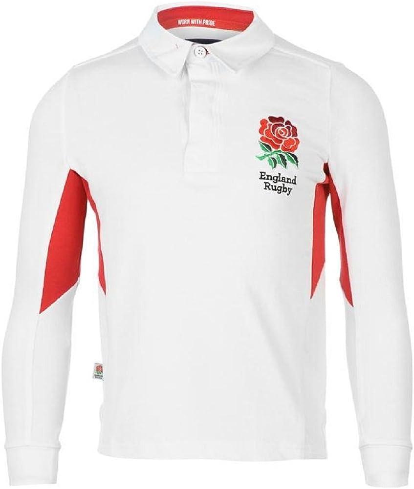 England Rugby - Camiseta de manga corta - para niño blanco blanco ...